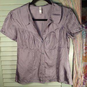 *4/$20* Xhilaration shimmer button up blouse sz L